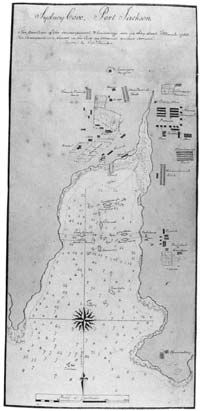 Sketch map of sydney cove, port jackson